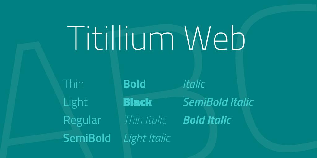 The font Titillium Web.