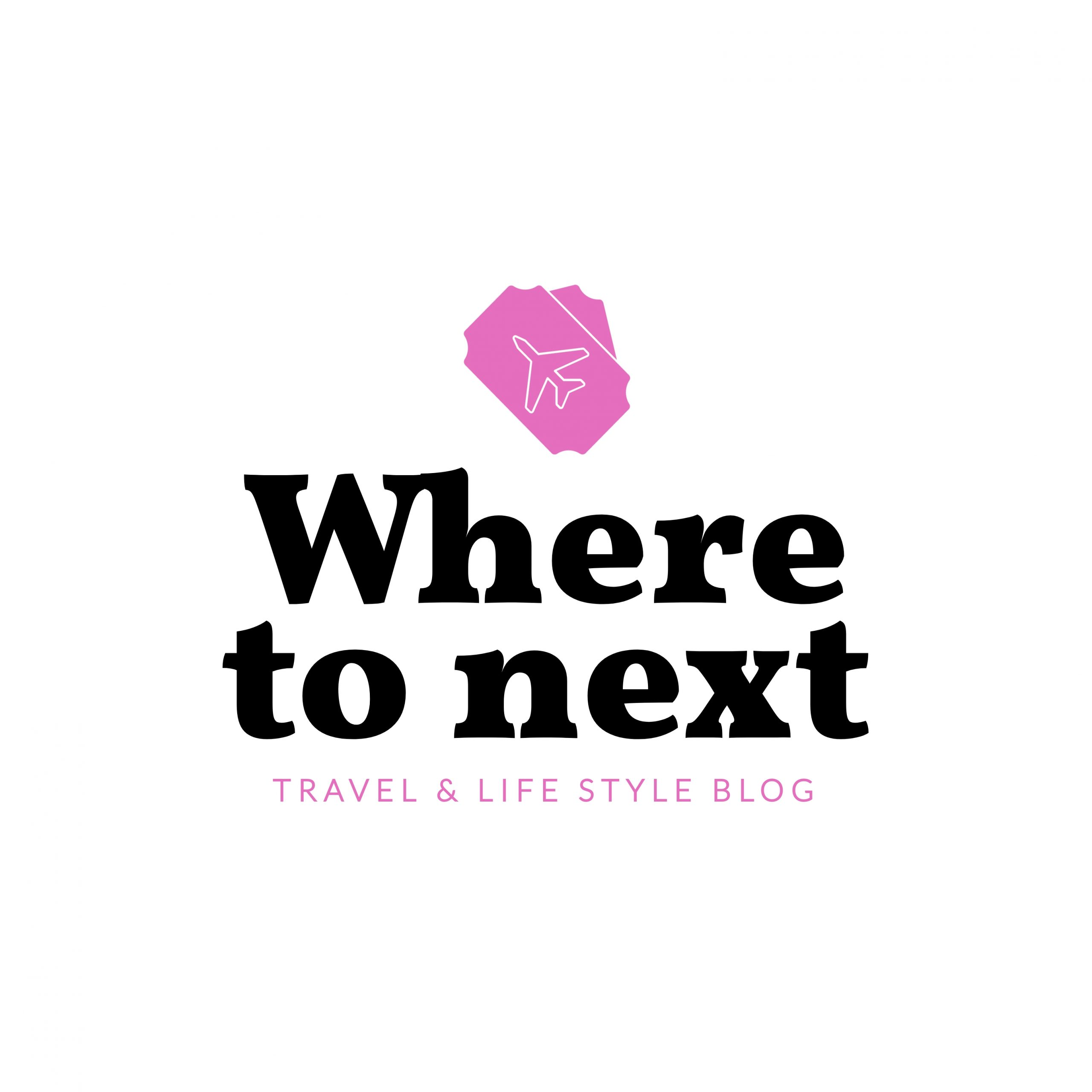 A travel blog logo template available to customize in Visme.