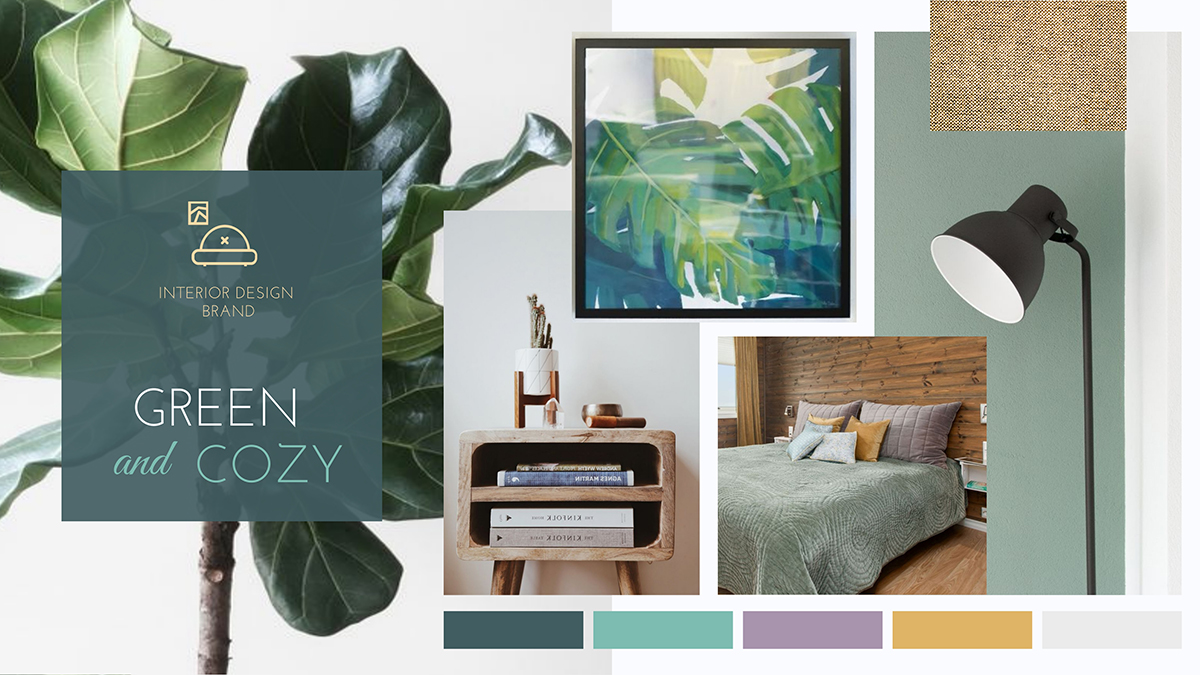 A moodboard template available to customize in Visme.