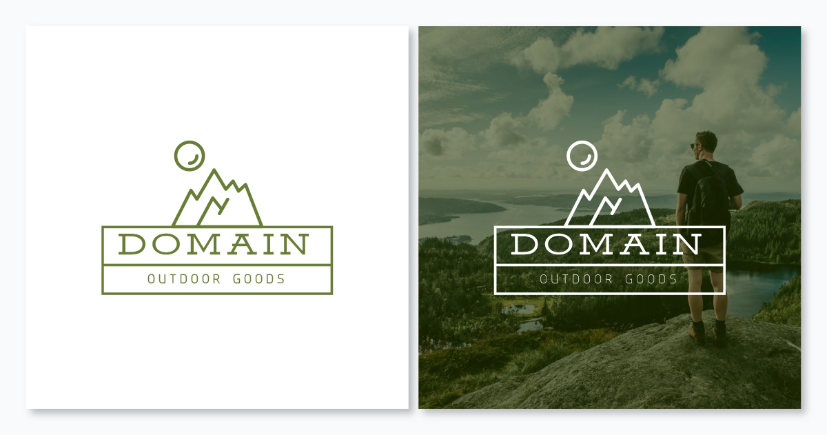 An outdoor good logo template available to customize in Visme.