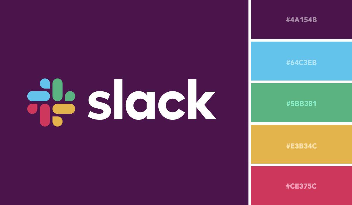 Slack's logo color palette.