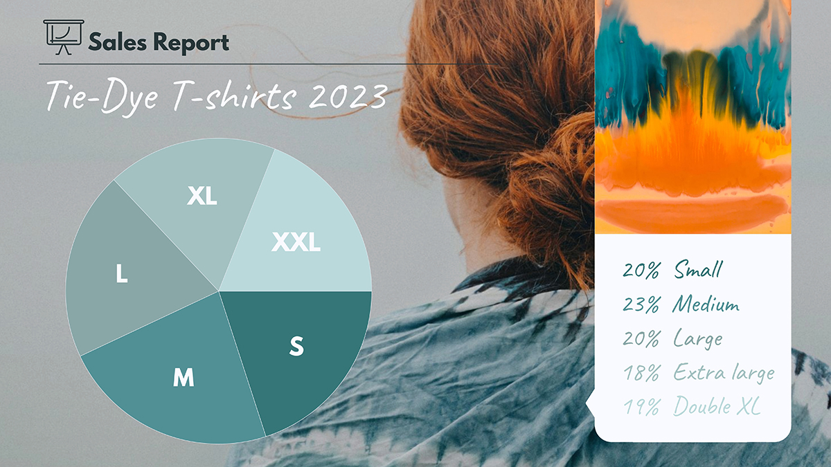 A sales pie chart template available in Visme.