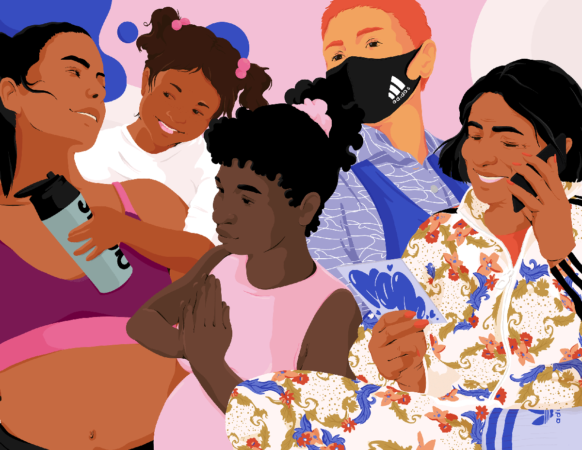 An illustration of women with different skin colors.