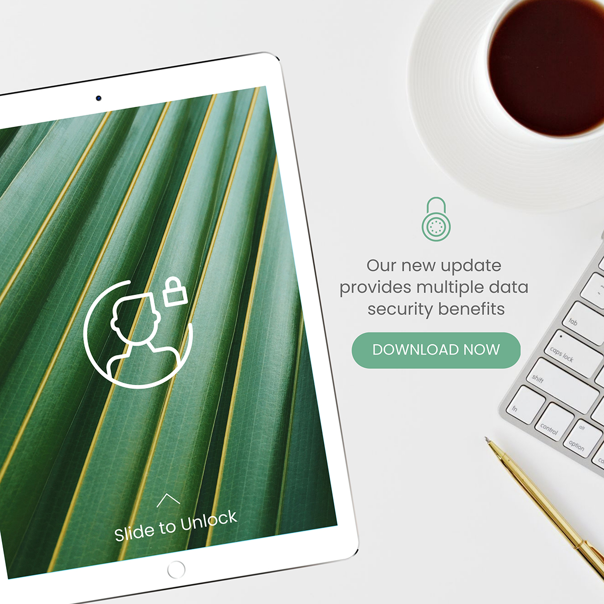 An iPad mockup template available to customize in Visme.