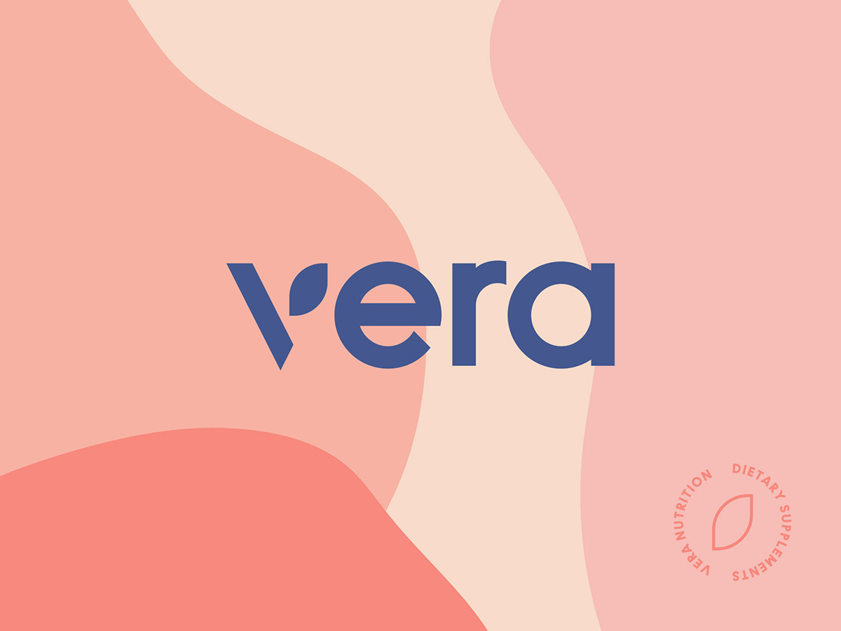 A logo and branding color palette with muted colors.