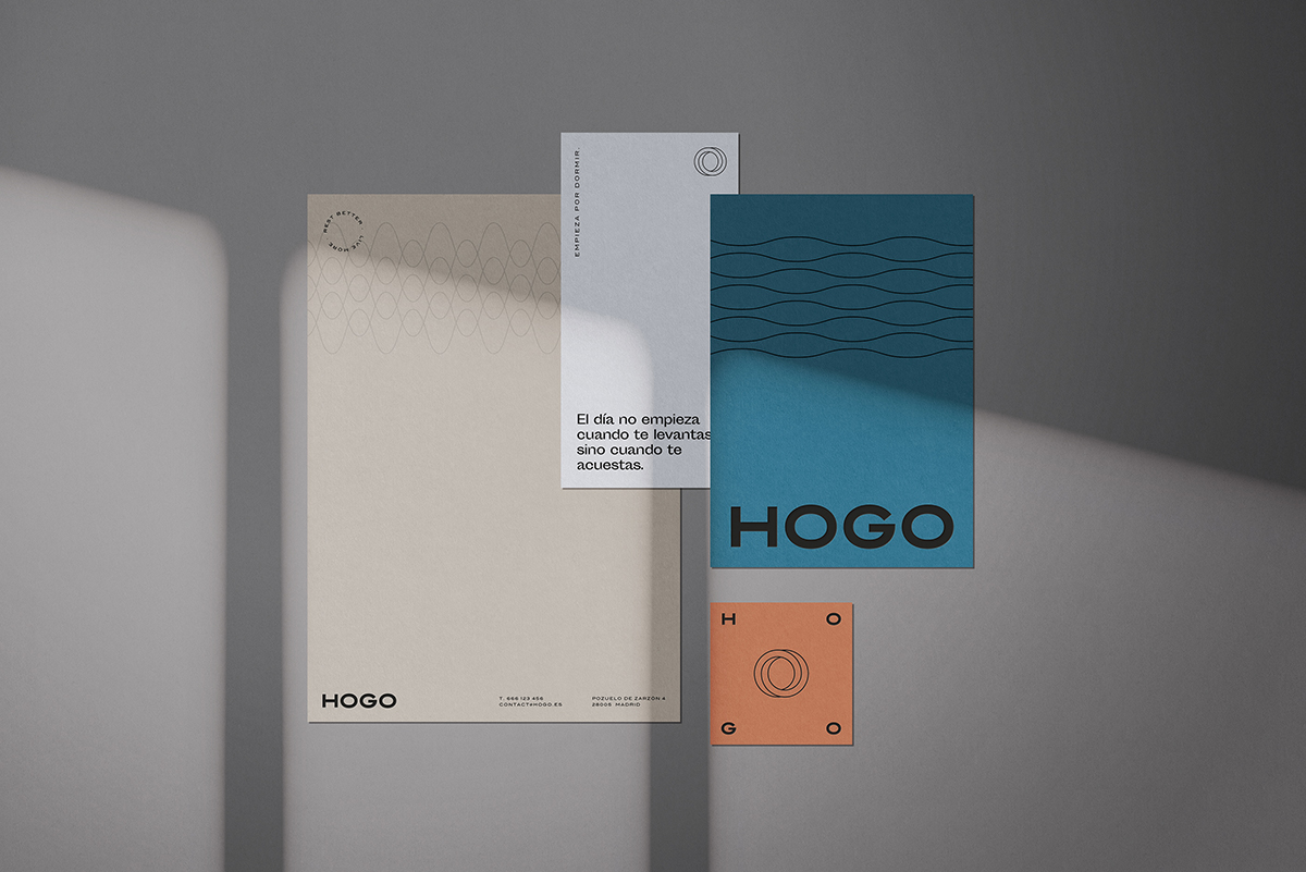 A branding concept with a muted color palette.
