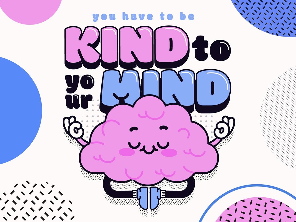 A playful illustration of a brain.