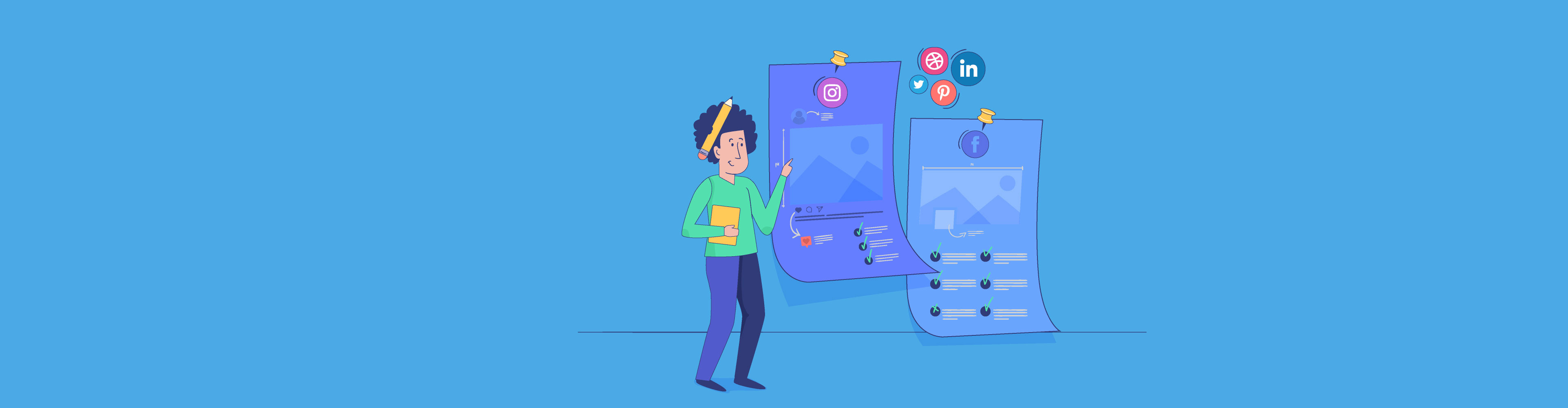 social media infographic - header wide