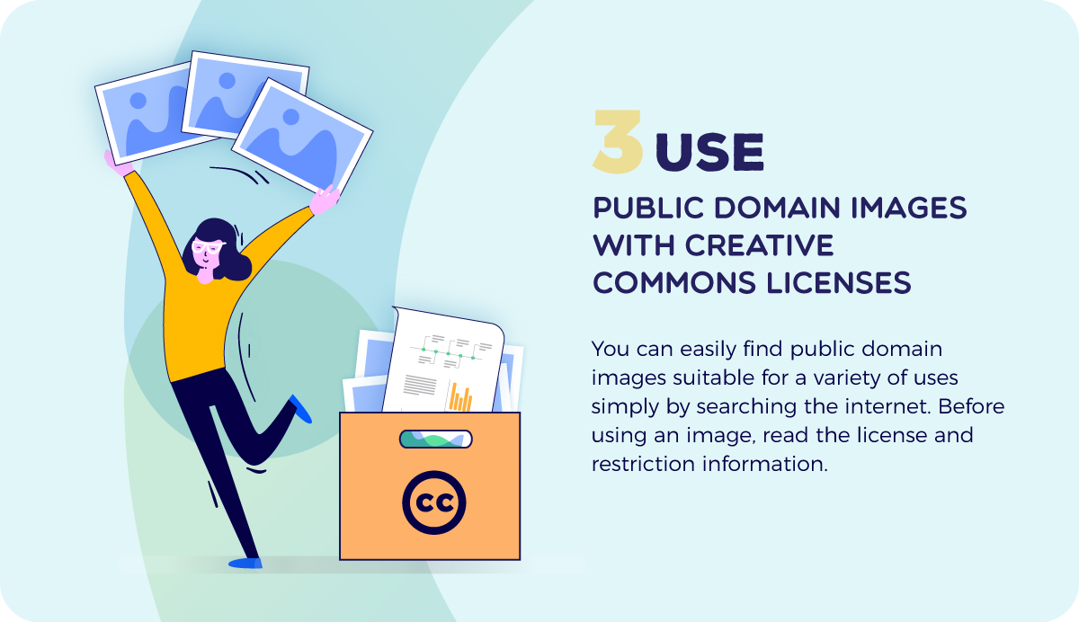 copyright images use public domain with creative commons license