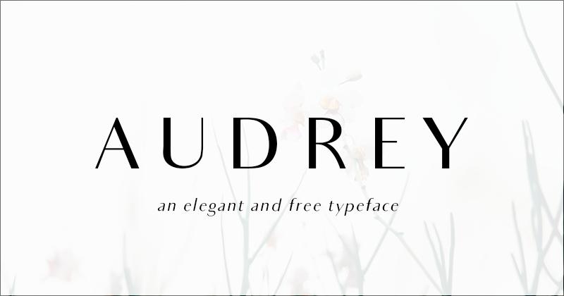 audrey 50 best free elegant fonts