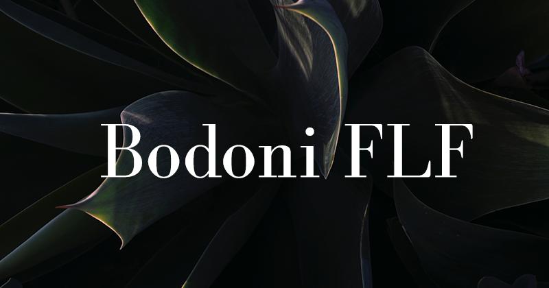 bodoni FLF 50 best free elegant fonts