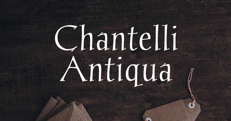 chantelli antiqua 50 best free elegant fonts