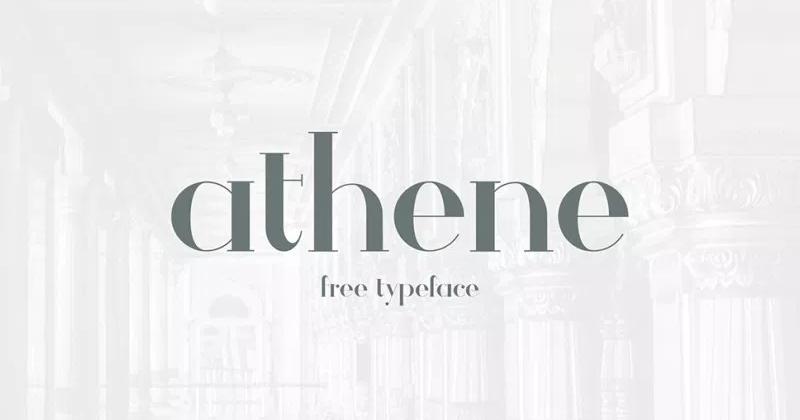 athene 50 best free elegant fonts