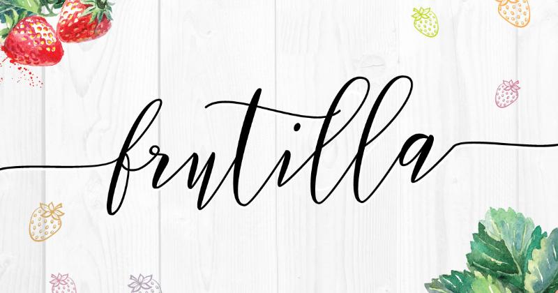 frutilla 50 best free elegant fonts
