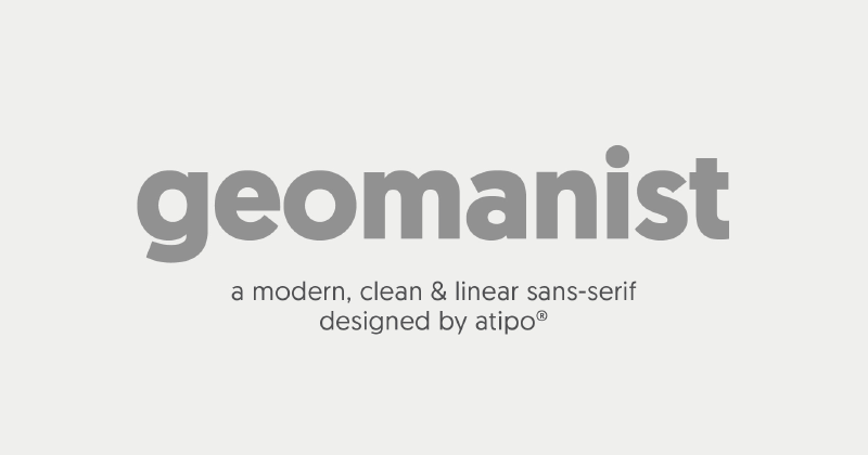 geomanist 50 best free elegant fonts