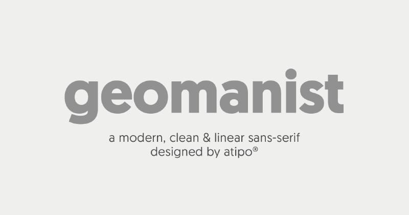 geomanist 50 best free elegant fonts