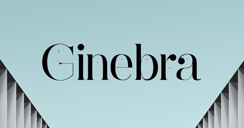 ginebra 50 best free elegant fonts