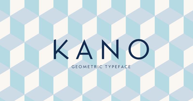 kano 50 best free elegant fonts