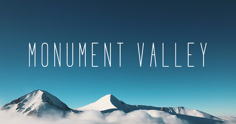 monument valley 50 best free elegant fonts