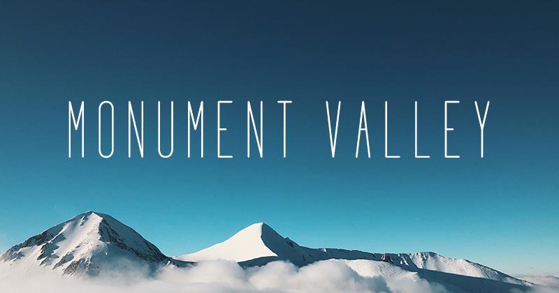 monument valley 50 best free elegant fonts