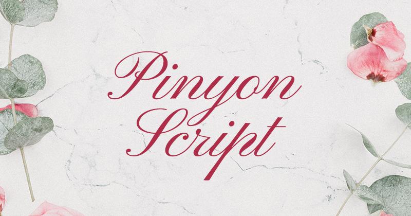 pinyon script 50 best free elegant fonts
