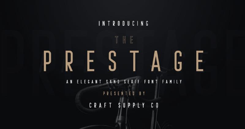 prestage 50 best free elegant fonts