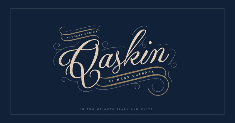 qaskin 50 best free elegant fonts
