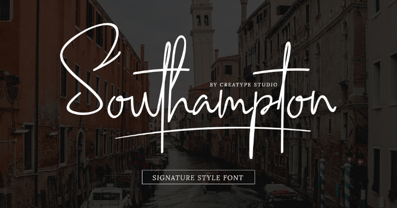 Southampton Is One Of The Favorite Elegant Script Style Fonts From Creatype Studio Both Modern And Ligatures Are Delicate Classy