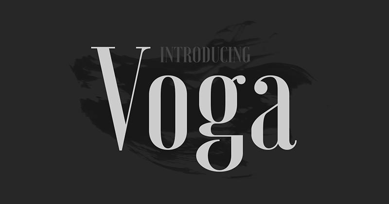 voga 50 best free elegant fonts