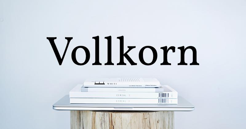vollkorn 50 best free elegant fonts