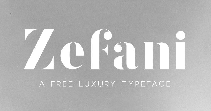 zefani 50 best free elegant fonts