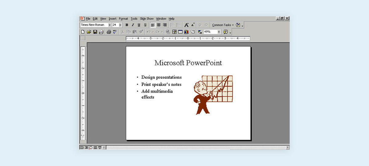 evolution of presentations before powerpoint history of presentations clip art powerpoint 2000 slides