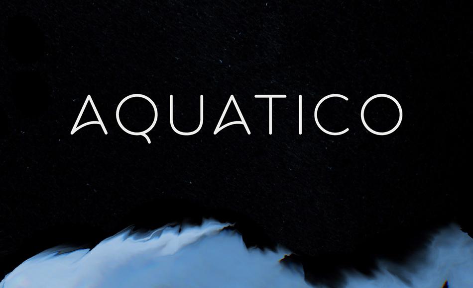 Aquatico free modern fonts