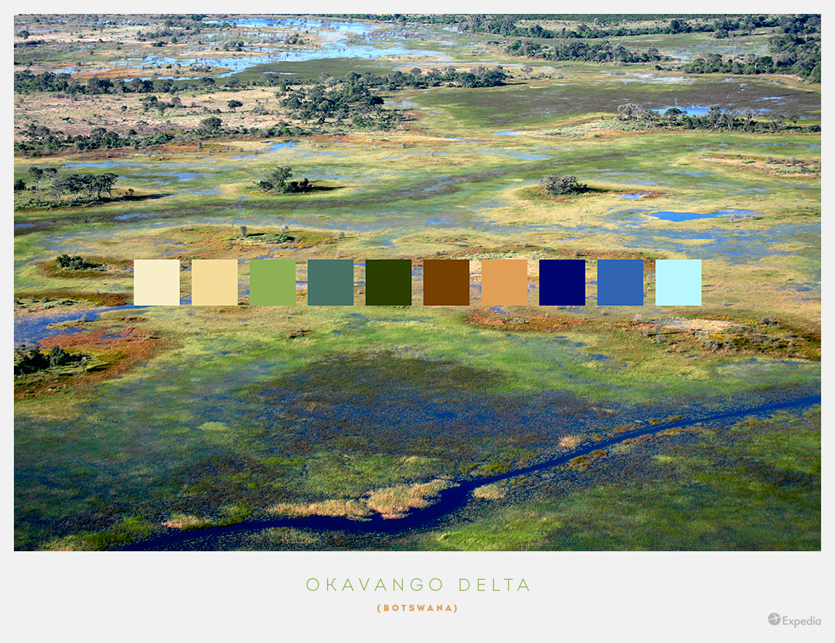 Botswana color palettes from beautiful landscapes