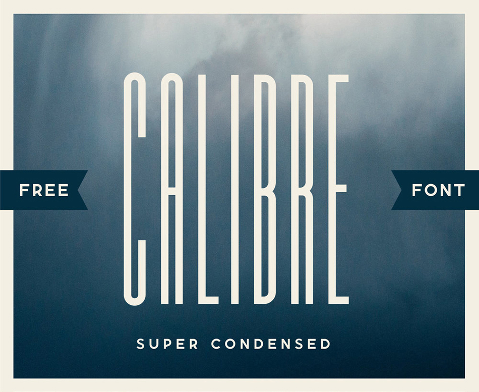 Calibre free modern fonts