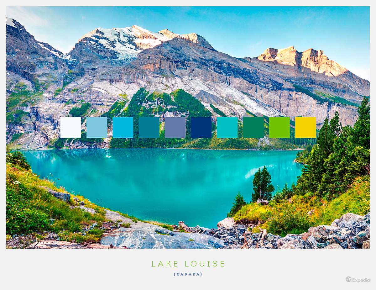 Canada color palettes from beautiful landscapes