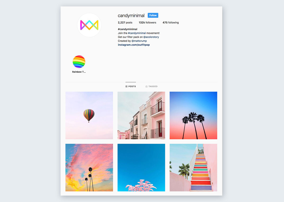 Candy-Minimal-on-Instagram pastel colors