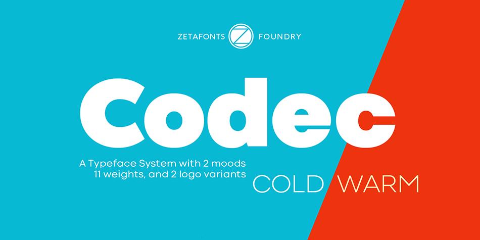 Codec free modern fonts