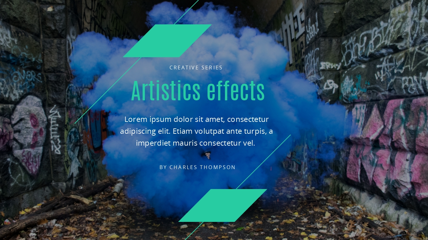 Color smoke and graffiti presentation background template visme