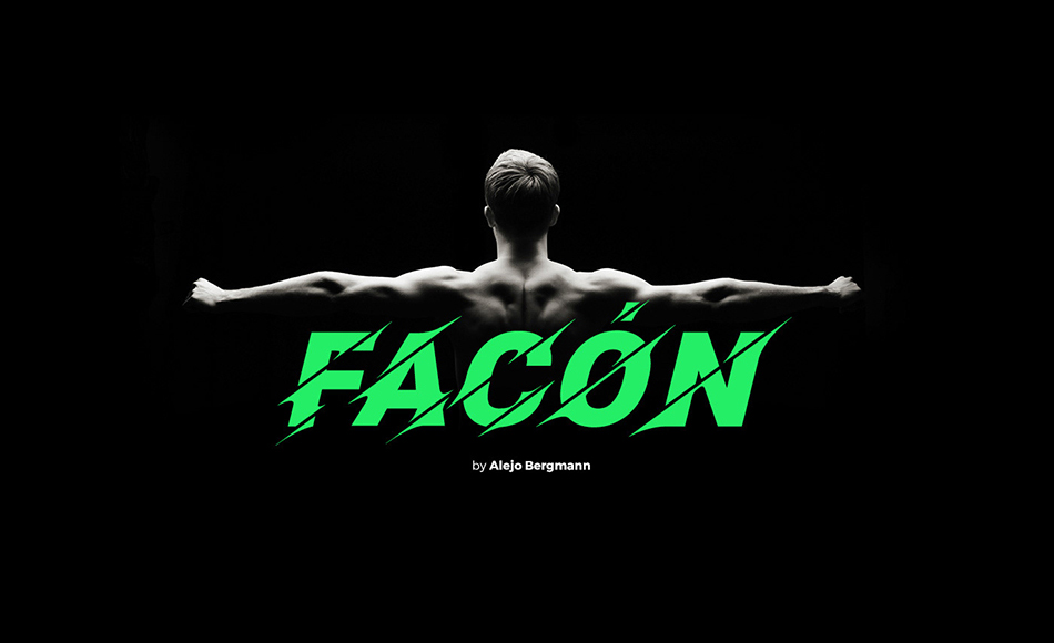 Facon free modern fonts
