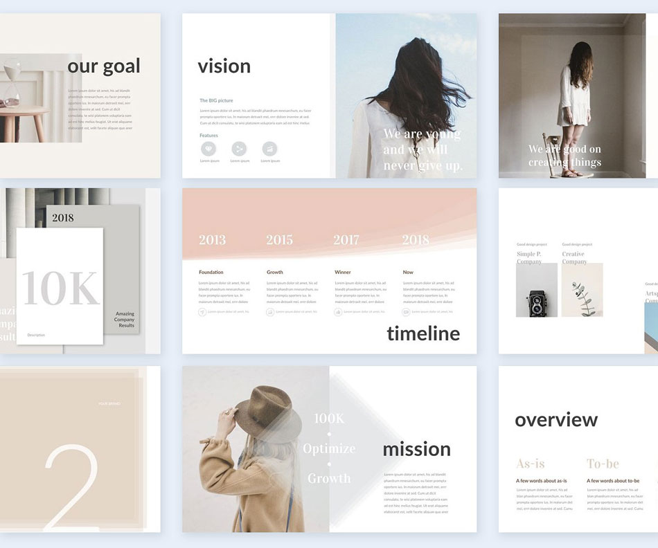 Feminine creative presentation ideas