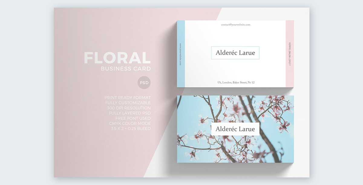 Floral-Business-Cards pastel colors