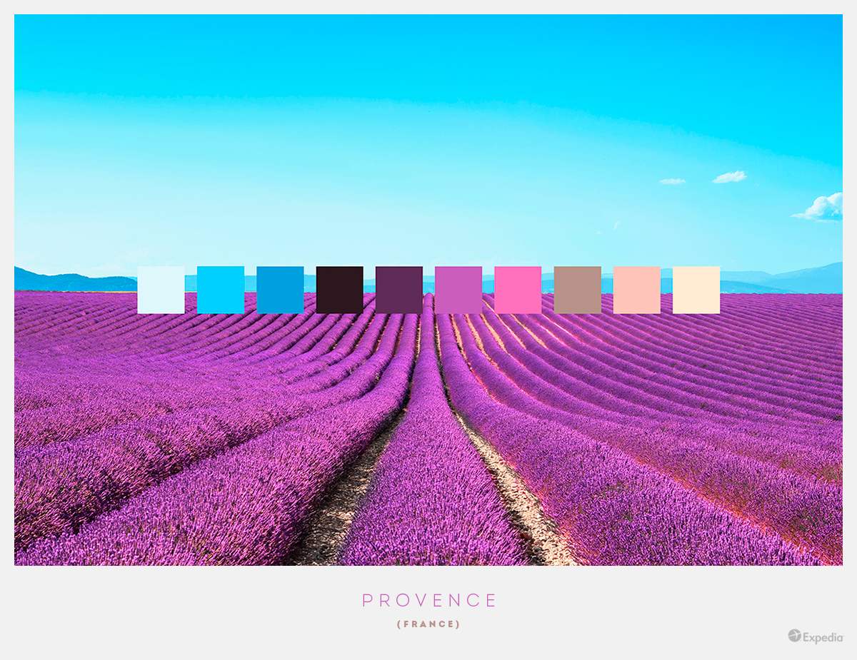 France color palettes from beautiful landscapes