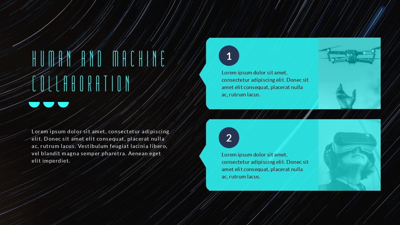 Futuristic virtual reality design presentation background template visme