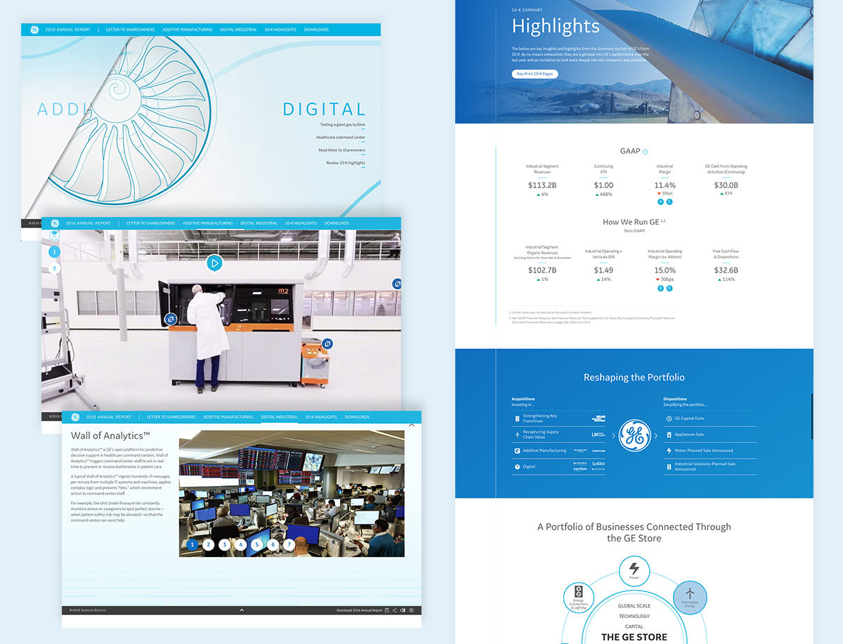 annual report design examples general electric ge 2016