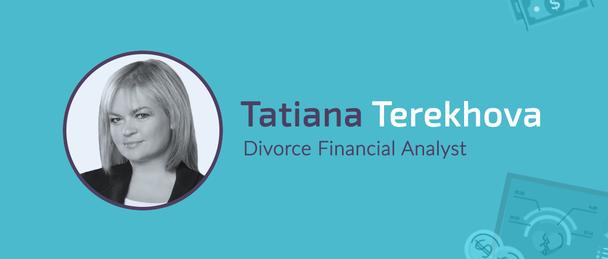 tatiana terekhova divorce financial analyst