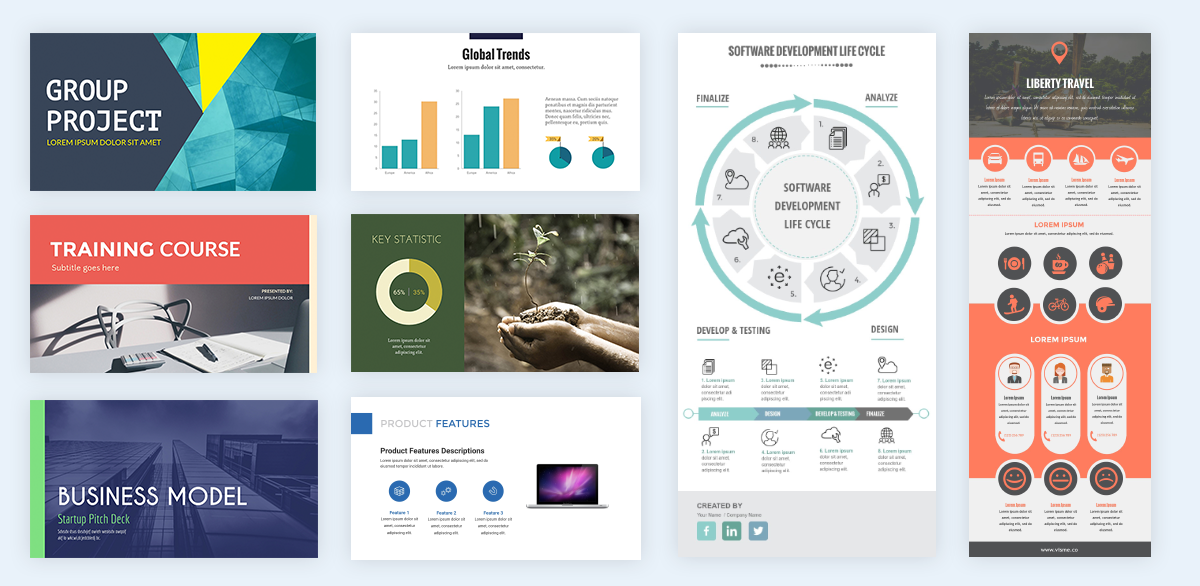 visme presentation infographic templates