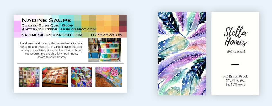 avoid clutter how to make a business card