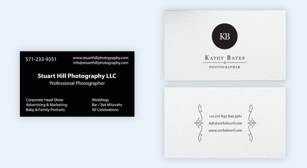 How to make a business card even if you dont have design skills example bad business card reheart Image collections