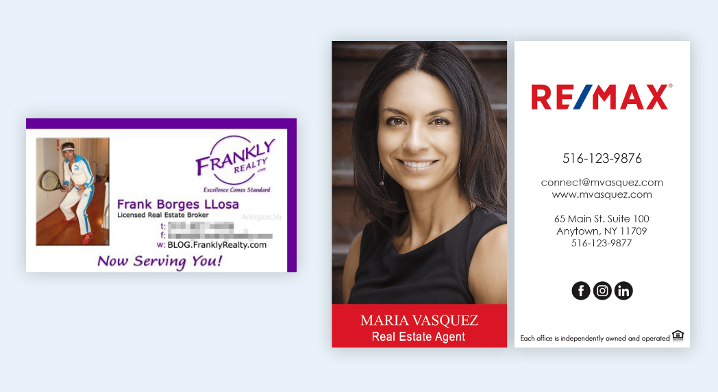example bad business card